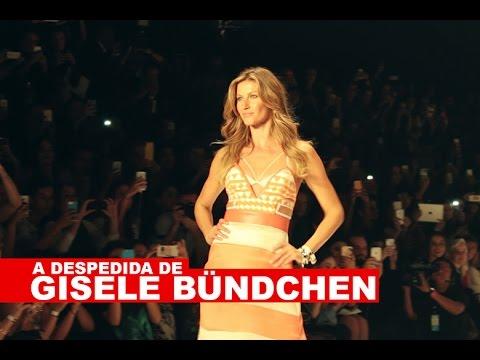 A despedida de Gisele Bündchen em vídeo!