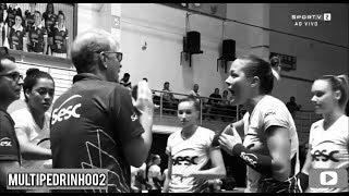 Climão| Bernardinho e Monique discutem feio durante o jogo