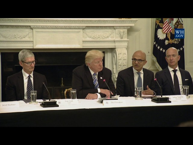 President Trump Participates in an American Technology Council Roundtable