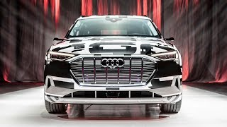 CRAZY! 2020 AUDI E-TRON - MOST HI-TECH INTERIOR EVER? - A first look at the prod ready electric car.