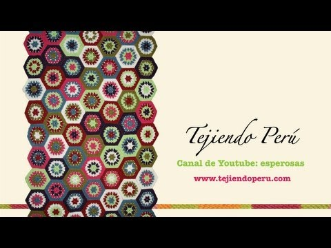 Watch Manta con pastillas hexagonales tejidas a crochet (granny hexagon)