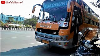 New Gujarat Bus || Sadguru travels Mumbai To Kodinar,Diu Bus || Brand New 2x1 sleeper coach || 2018