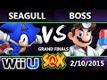 S@X - NS | Seagull (Sonic) Vs. WS | Boss (Dr. Mario) SSB4 Grand Finals - Smash 4 - Smash Wii U