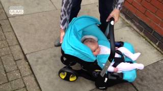 How to switch the CuddleCo Doona from car seat to travel system | MadeForMums vlogger review