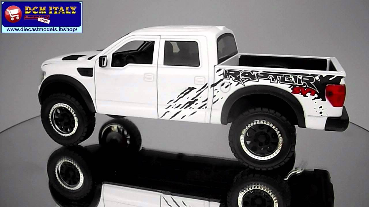 Ford f150 svt raptor 2011 jada toys 1 24 youtube