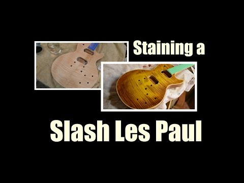 Slash Les Paul guitar stain tutorial with Keda Dyes Luthier Project afd
