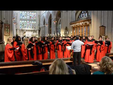 Grossmont High School Choir performs Mata Del Anima Sola in the Bath Abbey, UK