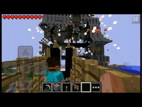 【minecraft pe】実況 part.1 僕の私のワクワク建築物破壊録