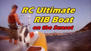 CVP - RC 1/5th Scale Ultimate RIB Boat on the sunset