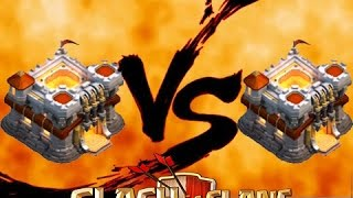 Clash of clans - บ้านเลเวล.11 Vs บ้านเลเวล.11