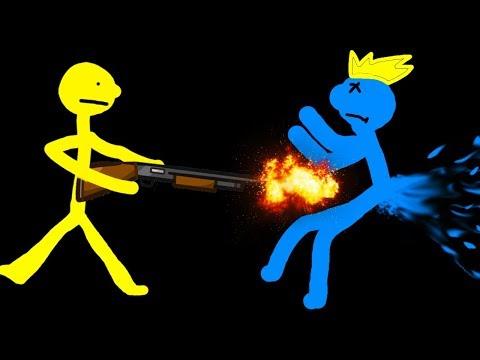2 ВОЙНА СТИКМЕНОВ мультяшное прикольное видео для детей смешное безумное сражение рисованых героев