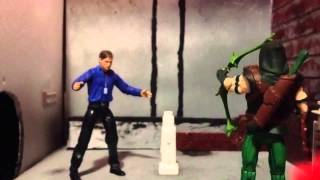 Green arrow stop motion video arrow count vertigo action figure stopmotion