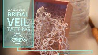 How to tat a wedding veil   lace bridal veil