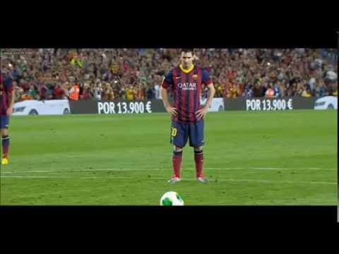 Lionel Messi Miss penalty - Barcelona 0-0 Atletico Madrid (28/08/2013)