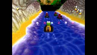 Croc 2 Kingdom of the Gobbos [PSX] 100% - Level 1-3 Croc vs. Dantini Boat Race!