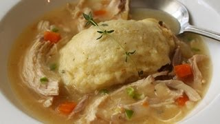 Chicken & Dumplings - Stewed Chicken with Thyme Creme Fraiche Dumplings