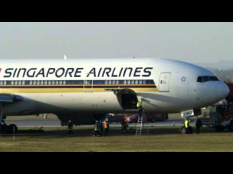 Singapore Airlines Boeing 777 Registration 9V-SWQ Flight 327 Slides Off Runway In Munich Germany