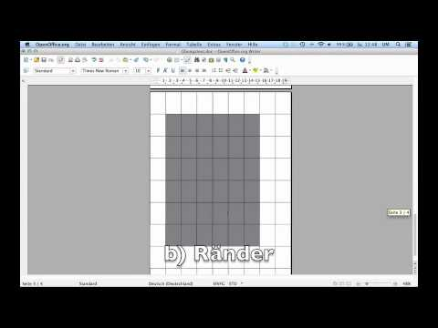 1 Seminararbeit formatieren mit OpenOffice 4 - Teil 1: Seitenformat und Ränder