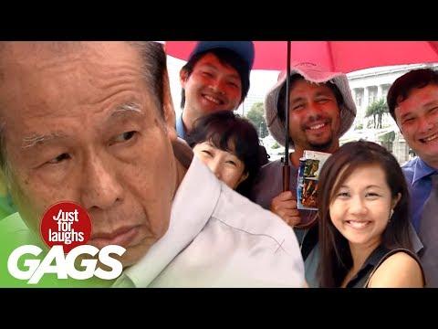 Uninvited Strangers Share Same Umbrella Prank - JFL Gags Asia Edition