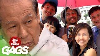 Uninvited Strangers Share Same Umbrella - JFL Gags Asia Edition