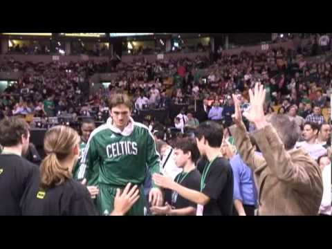 High School Quiz SHow winners meet the Celtics