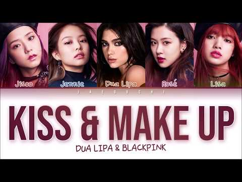 BLACKPINK & DUA LIPA - 'KISS AND MAKE UP' LYRICS (Color Coded Eng/Rom/Han) MP3