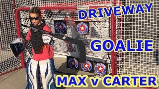 Kids HocKey Driveway Goalie Challend Max vs Carter Revenge Game