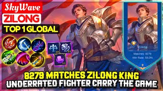 8279 Matches Zilong King, Carry With Underrated Fighter |Top 1 Global Zilong| SkyWave Mobile Legends