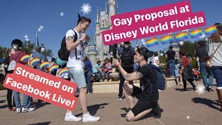 Disney World Gay Proposal streamed on Facebook Live