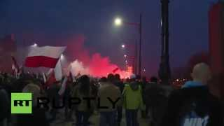 Polish Nationalist Rightists-Radical Camp & All-Polish Youth Riot In Warsaw-276 Arrested