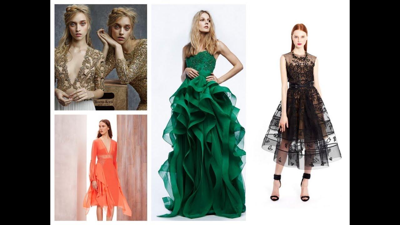 Стильные модные платья на выпускной вечер 2017. Фото
