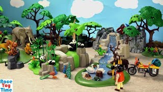 Playmobil Pandas in Bamboo Forest Playset with Toy Animals Fun Toys For Kids - Learn Animal Names