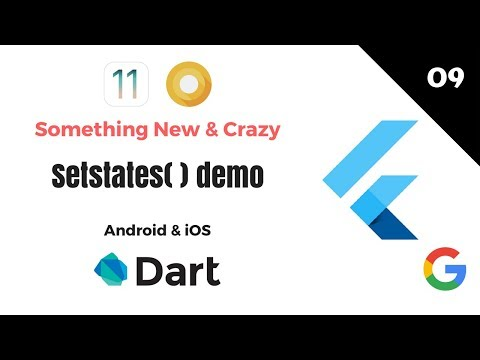 Google's Flutter Tutorials  | 9 - States Demo | Android & iOS | Dart