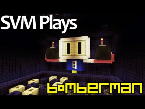 SVM Plays Minecraft Bomberman [Custom Map by FVDisco]
