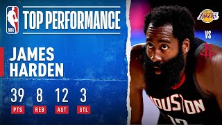James Harden's BIG Night (39 PTS, 8 REB, 12 AST) Against The Lakers | NBA Restart