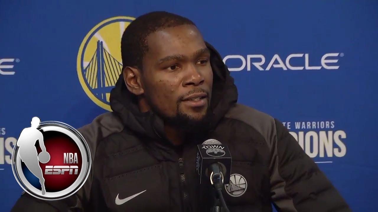 Kevin Durant: It's definitely frustrating | ESPN