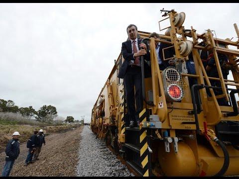 04 de SEP. Florencio Randazzo supervisó obras del tren que llegará a Mar del Plata.