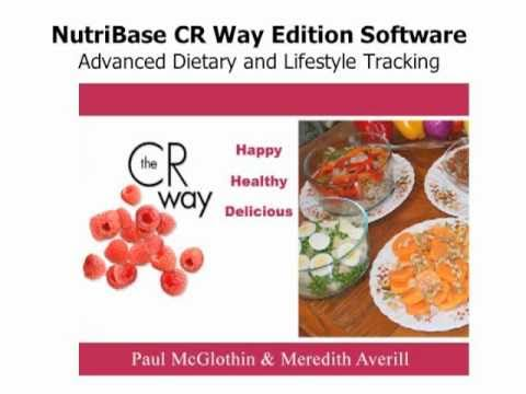 Nutribase CR Way Edition Software, taking the guesswork out of calorie restriction