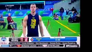 NFL rookie running backs 2017 combine 40 yard dash
