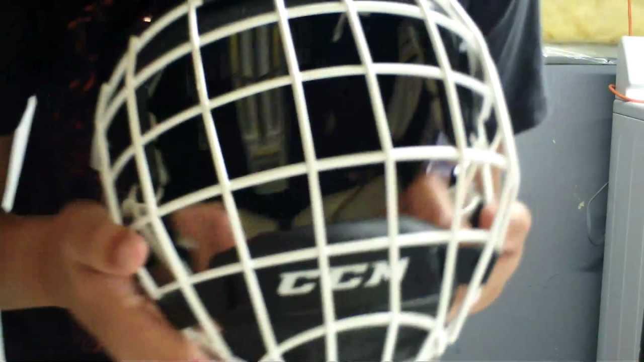 White Helmet White Cage my Helmet Ccm Fm580 White