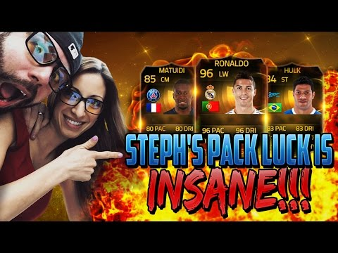 OMFG STEPH'S PACK LUCK IS TOO GOOD! Hunting for INFORM RONALDO in a pack! FIFA 15 Ultimate Team