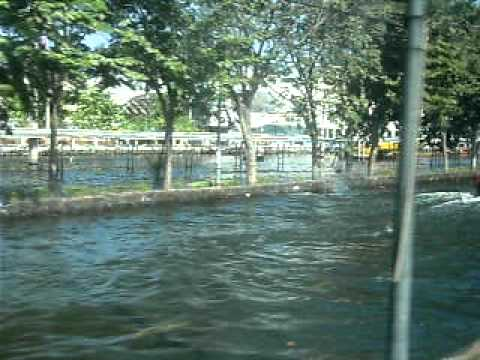 Floods in the north of Bangkok