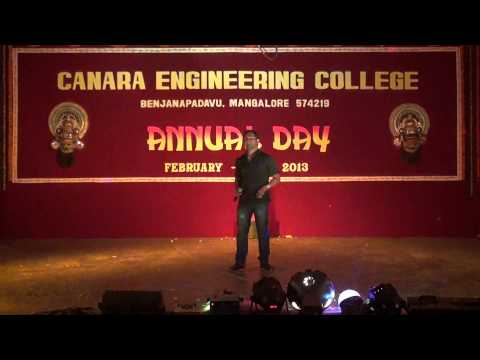 Enagali Munde Saguni Song  By Sandeep At Canara Engineering College,mangalore video