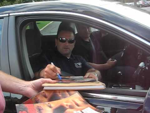 Drew Rosenhaus Signs Autographs for The SI KING  9-5-12