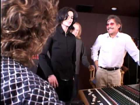 Michael Jackson  (RARE) with  Geraldo Rivera in recording Studio 2005