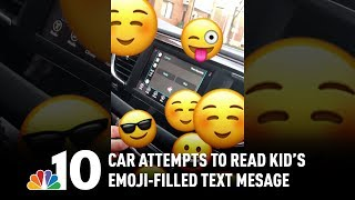 When Your Emoji-Loving Kid Texts You and the Car Tries to Read It