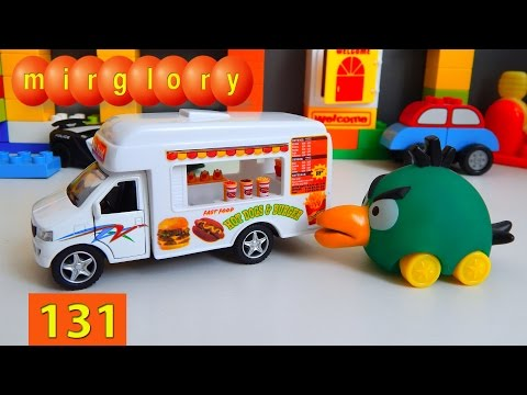 Мультики про машинки Fast Food машина - Город машинок 131 серия. Мультфильмы для детей mirglory