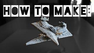 DIY Rogue One Star Destroyer crash scene with Hammerhead Corvette (Star Wars)
