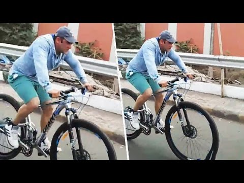 Salman Khan Spotted Cycling Before Sultan Trailer Launch