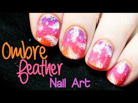 Fantasy Feather Nail Art | TotallyCoolNails